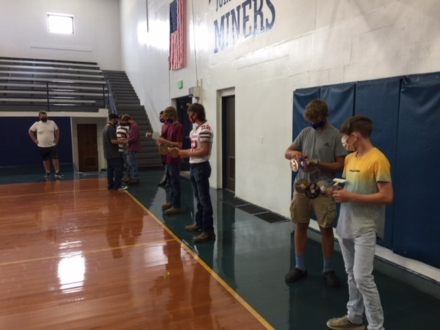 Students trying out their mouse trap car